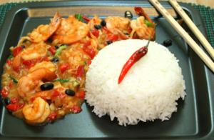 Tausi Chili Shrimps with Oyster Sauce
