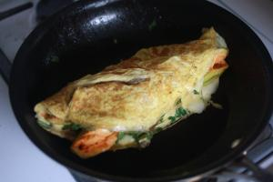 Squash Blossom Omelet : Part 1 - Preparation