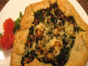 Broccoli Rabe And Sausage Crostata