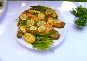 Grilled Salmon and Dill