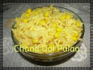 Chana Dal Pulao In Kadai