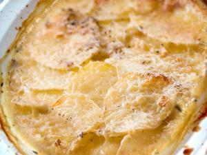 Creamed Potatoes Au Gratin