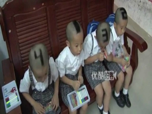 Mother Shaves Numbers on Quadruplet's Head to Identify Them