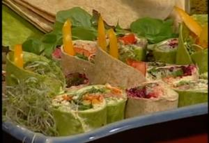 Healthy Vegetable Rainbow Wraps