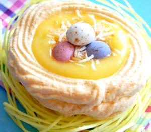Meringue Nests With Jelly Beans