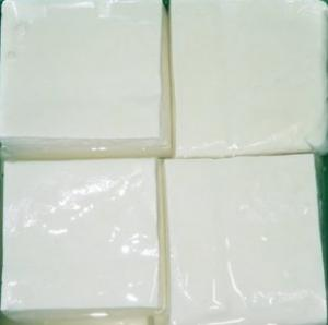 Freshly bought tofu from market to be stored