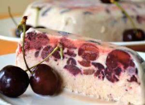 Dark Cherry Semifreddo
