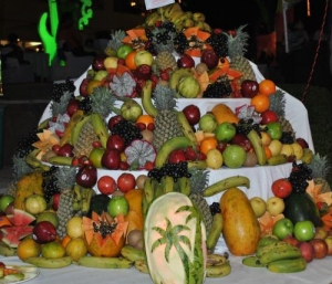 Fruit pyramid for 3 day fruit dieter