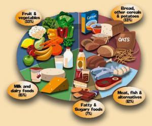 A description of balanced diet