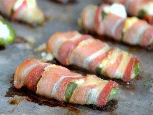Bacon Wrapped Cream Cheese Filled Jalapenos | Party Bites and Appetizers