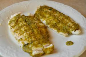 Grilled Swordfish with Cilantro Butter