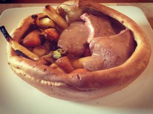 Roast Beef in Giant Yorkshire Pudding - MYVIRGINKITCHEN