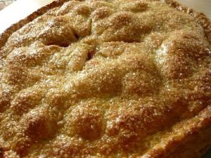 Home Made Golden Peach Pie