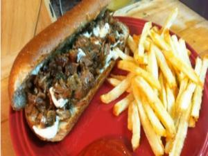 Cajun Pork Po' Boys & Homemade Fast Food French Fries