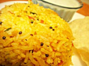 Tomato Rice- Tangy and Colorful