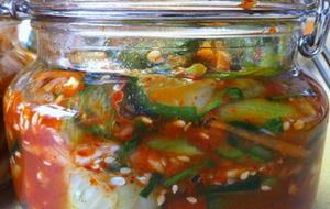 Slaked Lime Cucumber Pickle