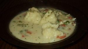 Stewed Chicken And Raisin Dumplings