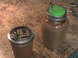 Best Mason Jar Lids & Blendtec Chocolate Shake