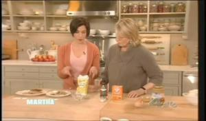 Martha Stewart Learning Food Substitutes