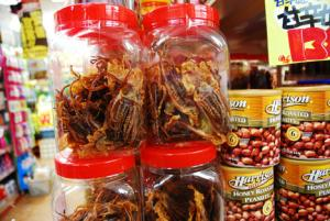 Dried squid, both whole and shredded, are a popular Japanese snack.