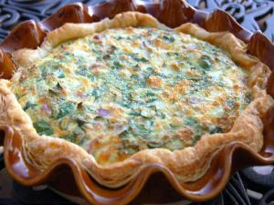Spinach and Pancetta Quiche
