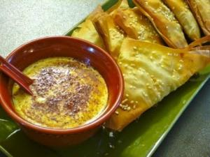 Baked Indian Samosa With Yogurt Dip For Super Bowl Party - Collaboration