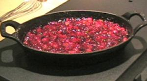 Cranberries with Orange Cognac Sauce
