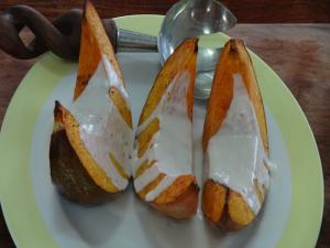 Roasted Pumpkin or Squash with Coconut Cream Sauce - Vegan