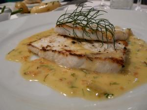 Halibut Pieces in White Wine