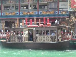 Taking a Sampan Boat Tour Around Aberdeen in the South China Sea - Hong Kong, China