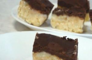 Chocolate Topped Burfi