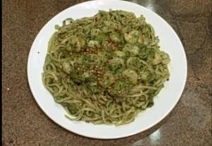Linguine Pata with Shrimp and Pesto