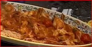 Shrimp Fra Diavolo - Spicy Hot Shrimp on Angel Hair Pasta