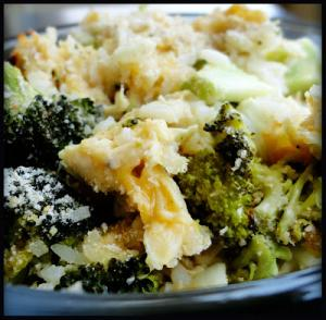 Broccoli Onion Deluxe Casserole