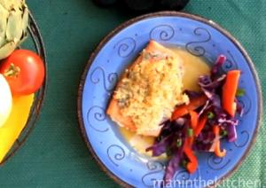 Macadamia Nut Crusted Grilled Salmon