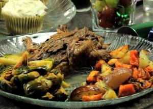 Slow Cooked Beef Roast with Fresh Herbs