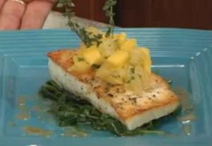 Halibut with Mango Salsa