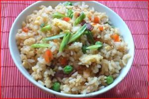 Bacon Fried Rice with Leftover Rice