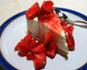 Almost Strawberry Cheesecake