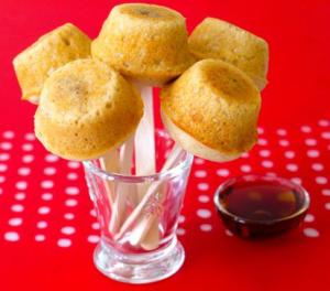 Pancake Sausage Muffins on a Stick