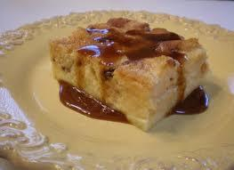 bread pudding on the platter