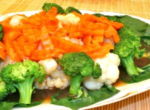 Seasonal Vegetables With Oyster Sauce