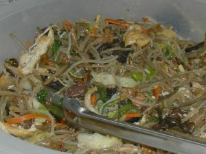 Mixed Vegetables With Noodles And Beef Chap Chae