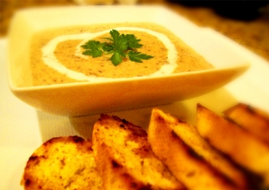 Cream of Mushroom and Tarragon Soup