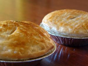 Delicious meat pie for dinner