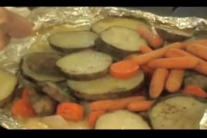 Barbecue Vegetable Hobo Pack