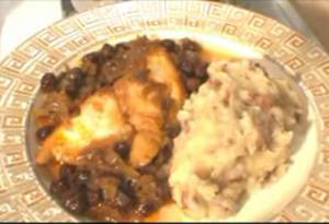Greek Style Cod And Raisins