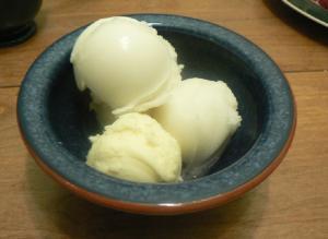 Fresh Lemon Sherbet