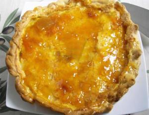 Apricot Macaroon Pie