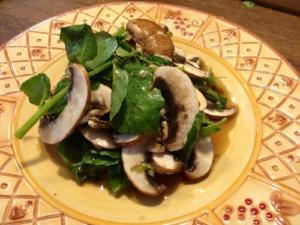 Four Mushroom Salad with Truffle Oil